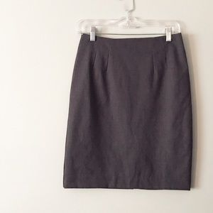 H&M Charcoal Pencil Skirt with Back Pocket